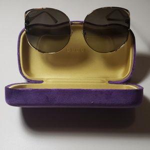 NWT Gucci womens sunglasses GG0225 Gold